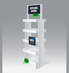 Promotion shelf realistic vector