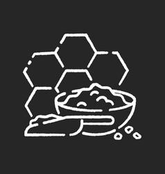 Propolis chalk white icon on black background vector