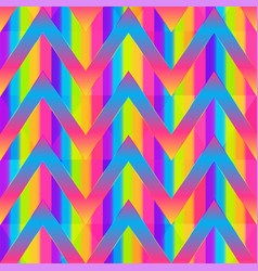 rainbow color zigzag seamless pattern vector image