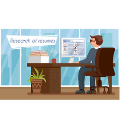 Research resumes hr agency vector
