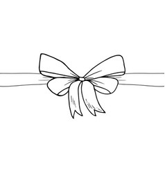 ribbon and bow sketch vector image