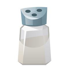 Salt shaker isolated on white background vector