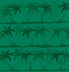 Seamless pattern of palm trees vector