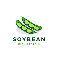 soybean logo icon vector image