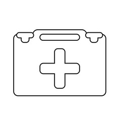 suitcase first aid medical thin line vector image