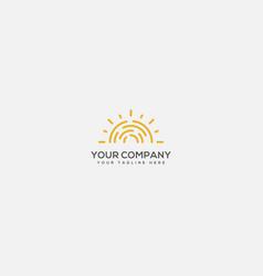 Sunblock logo sun and fire logo skin protect logo vector