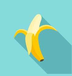 tasty banana icon flat style vector image