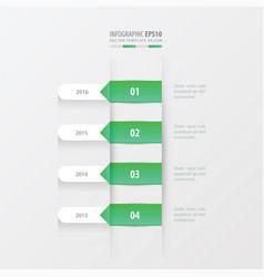Timeline template green gradient color vector