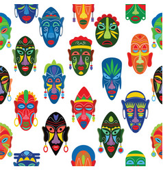 tribal mask african face masque and masking vector image