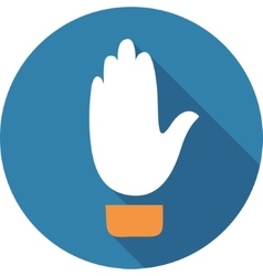 Up hand sign vector