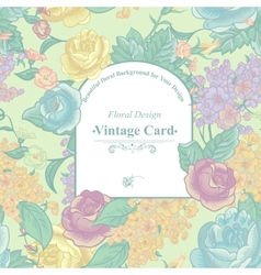 Vintage greeting card with wildflowers vector