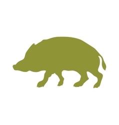 Wild boar animal flat silhouette vector