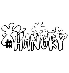 word expression for hangry vector image
