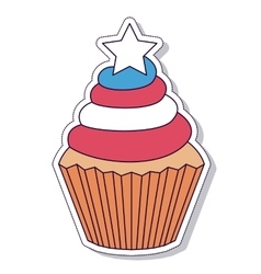 patriotic cupcake isolated icon design vector image
