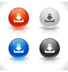website template buttons vector image vector image