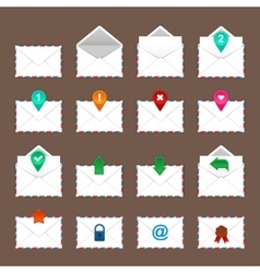 Envelopes icons set vector image
