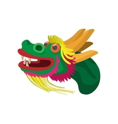 Head a chinese dragon icon cartoon style vector image vector image