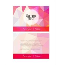 Pink modern flyer vector