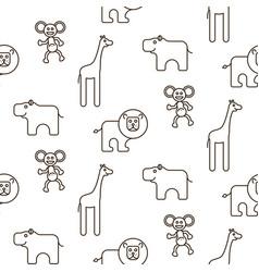 african wild animals kid seamless pattern vector image