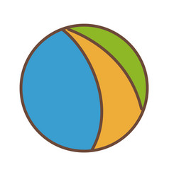 beach ball colors funny plastic icon vector image