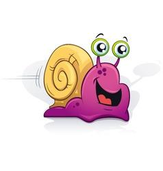 cartoon snail vector image vector image