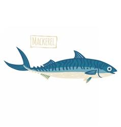 Mackerel cartoon vector image vector image