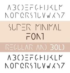 Minimalist Font Bold And Regular Minimalism Style vector image vector image