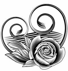 ornamental rose vector image