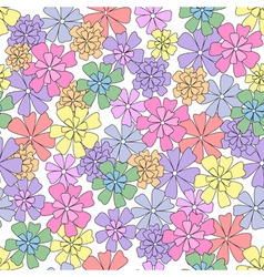vector seamless pattern of flowers vector image vector image