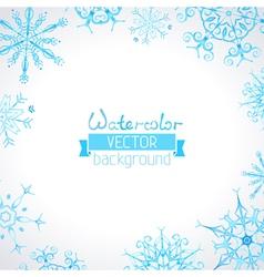 watercolor winter background vector image vector image