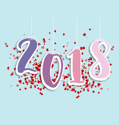 welcome 2018 abstract background vector image vector image