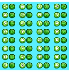 Game menu icons ice buttons set vector image vector image