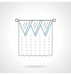 Lambrequin flat blue line icon vector image