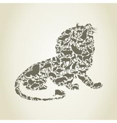 Lion3 vector image