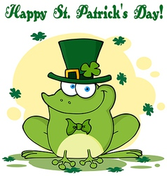 St patricks day frog vector image vector image