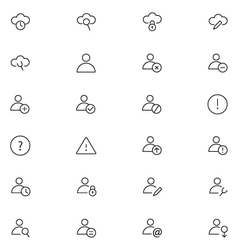 User Interface Icons 15 vector image vector image