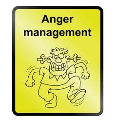 Anger management information sign vector