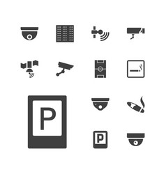 Area icons vector
