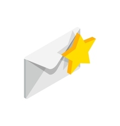 Award email icon isometric 3d style vector image
