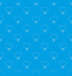 balloon pattern seamless blue vector image