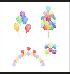 Balloons set vector