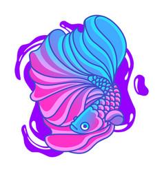 Betta fish mascot logo vector