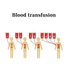 Blood transfusion Blood groups Infographics vector