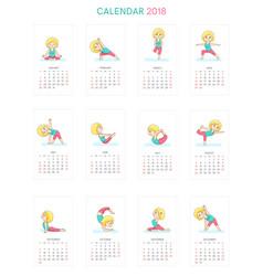 Calendar 2018 vector
