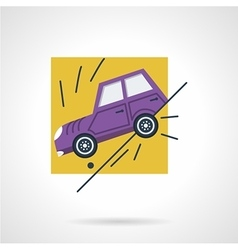 Car insurance occasion flat icon vector