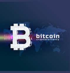 Crypto bitcoin currency symbol background vector