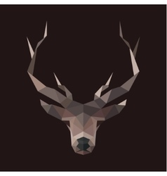 Deer polygons horned animal head low vector image