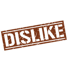 Dislike square grunge stamp vector