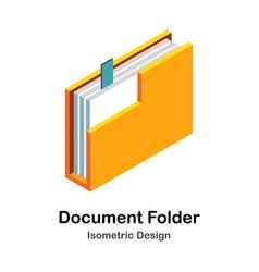 Document folder isometric vector
