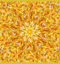 Dynamic geometrical radial pattern mosaic vector